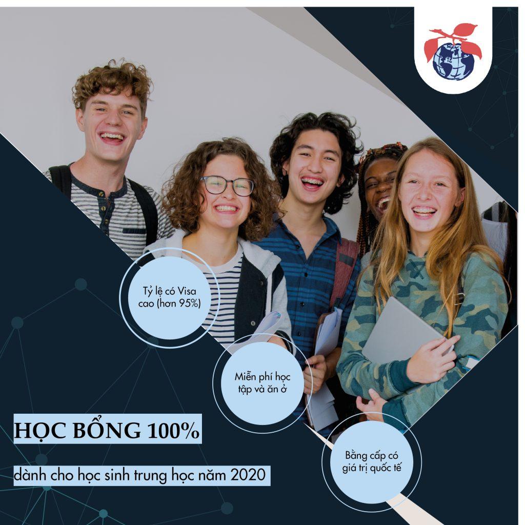 Học bổng 100% du học Mỹ 2020
