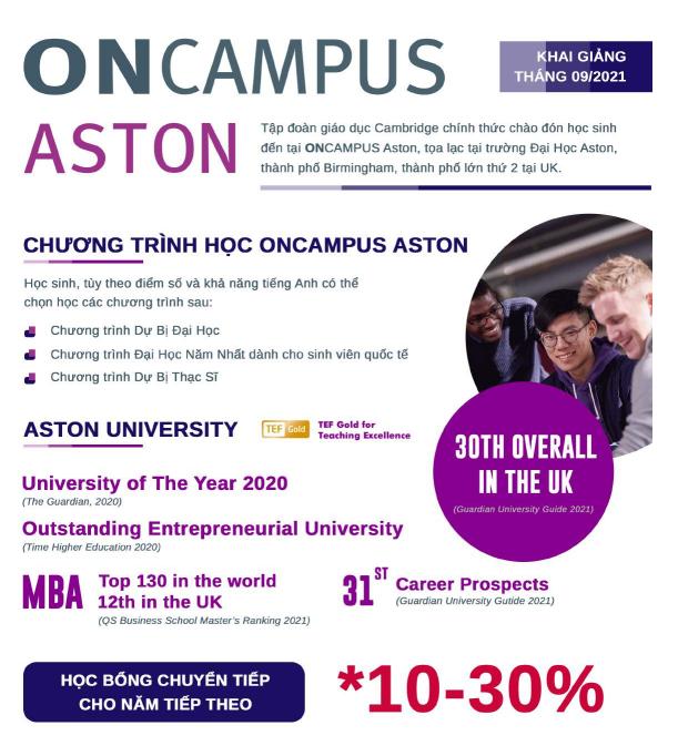 Các chương trình tại OnCampus Aston