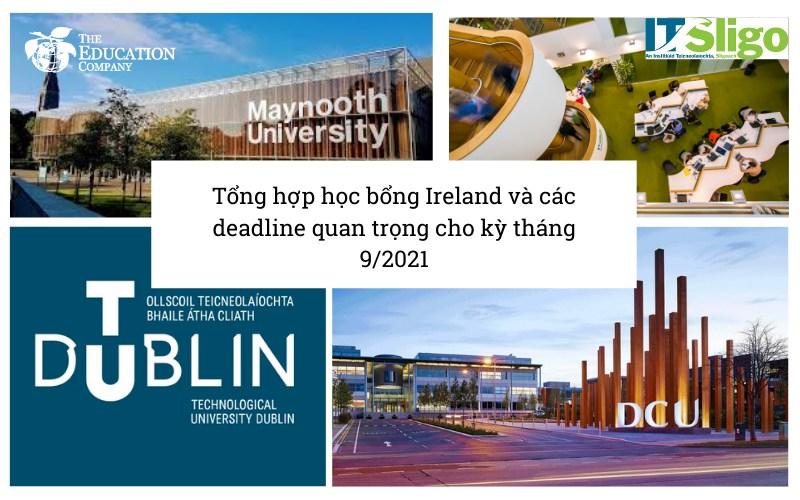 Tổng hợp các học bổng du học Ireland tháng 9/2021